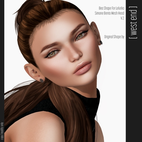 west-end-bea-shape-lelutka-simone-bento-mesh-head