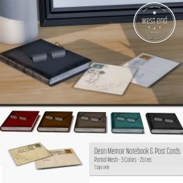 [ west end ] Home - Dean Memoir Notebook Vintage Postcards