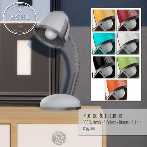 [ west end ] Home - Monroe Mesh Lamps