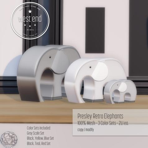 [ west end ] Home - Presley Retro Elephants