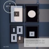 [ west end ] Home - Retro Geometric Wall Art - Set 1