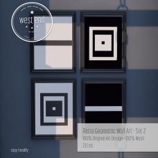 [ west end ] Home - Retro Geometric Wall Art - Set 2