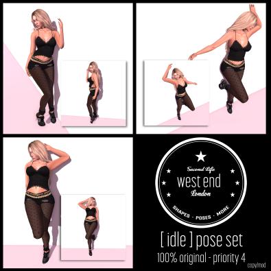 [ west end ] Idle Pose Set Freebies