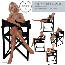 [ west end ] Poses - Bardot Set - Single Poses with Prop