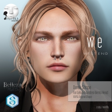 [ west end ] Shapes -Derek (Lelutka Andrea Bento )