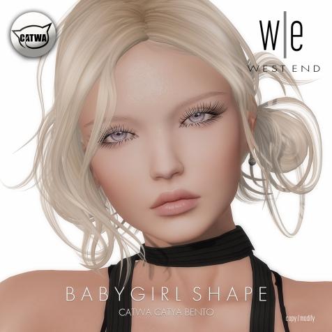 [ west end ] Shapes - Babygirl (Catwa Catya Bento)