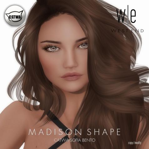 [ west end ] Shapes - Madison (Catwa Sofia Bento)