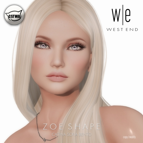 [ west end ] Shapes - Zoe (Catwa Sofia Bento)