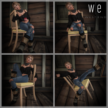 [ west end ] Slouchin - Pose Set With Chair Prop