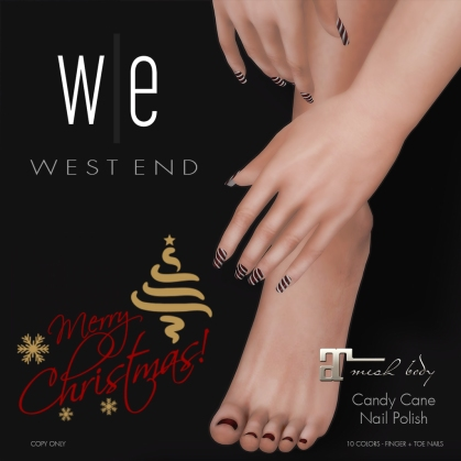 [ west end ] Beauty - Candy Cane Nail Polish (Maitreya)-AD