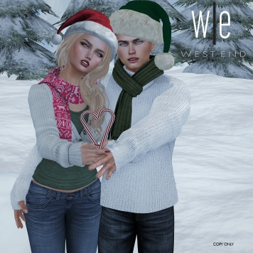 [ west end ] Poses - Candy Cane Couples Pose AD3