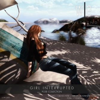 [ west end ] Poses - Girl Interrupted Pose Collection AD