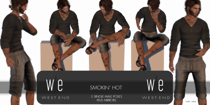 [ west end ] Poses - Smokin' Hot - Single Male Poses