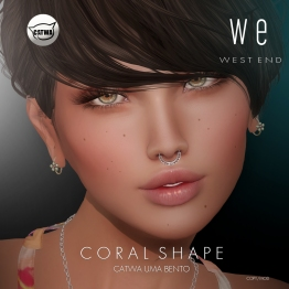 [ west end ] Shapes - Coral (Catwa Uma Bento) AD