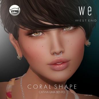 [ west end ] Shapes - Coral (Catwa Uma Bento) AD