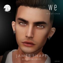 [ west end ] Shapes - James (Lelutka Andrea Bento) AD