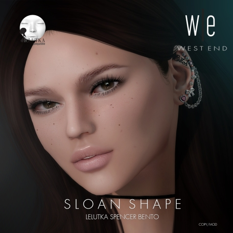 [ west end ] Shapes - Sloan (Lelutka Spencer Bento) AD2