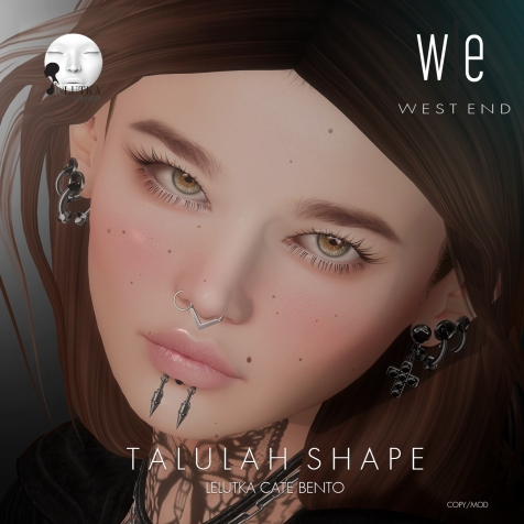 [ west end ] Shapes - Talulah (Lelutka Cate Bento) AD