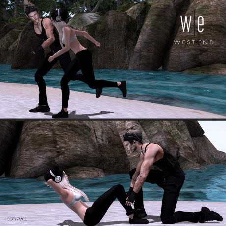 [ west end ] Bento Poses - Perfect Trainer I & II - Couples Poses AD-1300
