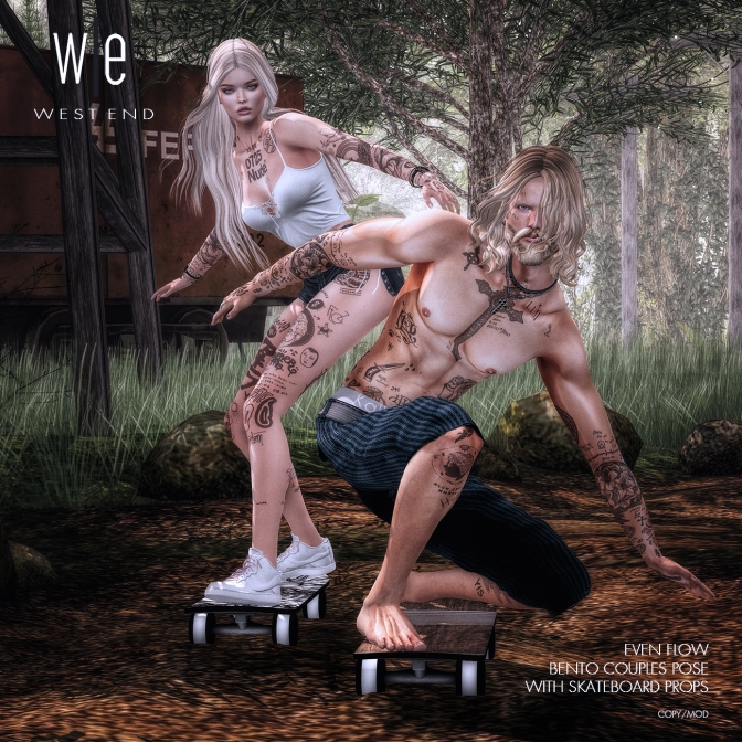 [ west end ] Bento Poses - Even Flow - Couples Pose with Prop (1300)