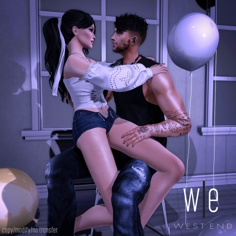 [ west end ] Poses - Giggle - Couples Pose AD (1300)