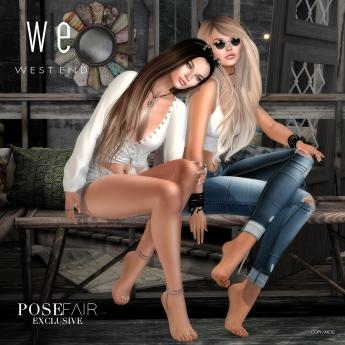[ west end ] Poses - Milk & Honey - Friends Pose AD 1100
