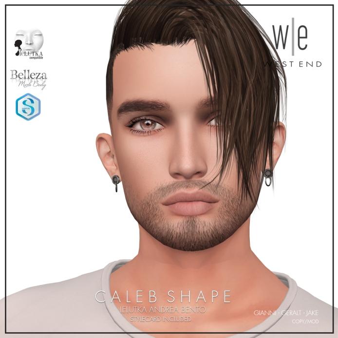 [ west end ] Shapes - Caleb (Lelutka Andrea Bento) AD