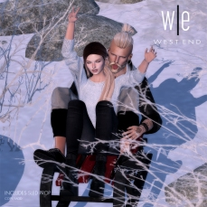 [ west end ] Bento Poses - Like a Kid in the Snow - Couples AD-1300