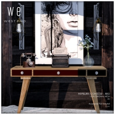 [ west end ] Home - Hepburn Console - Red AD 1300