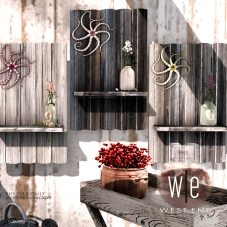 [ west end ] - Repurposed Driftwood Shelves AD 1300
