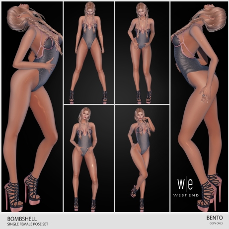 [ WEST END ] BENTO POSES - BOMBSHELL - SINGLE POSE PACK AD - 1300