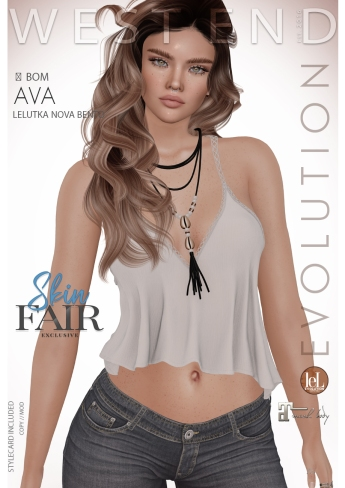 [west end ] Shapes - Ava (Lelutka Nova Evolution) AD - POSTER SKIN FAIR
