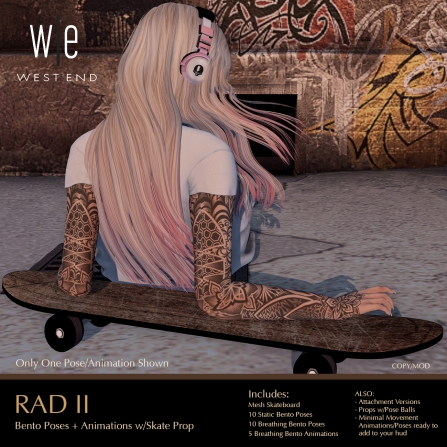 [ west end ] Bento Animations - RAD II - Animations-Poses with Prop AD - 1300